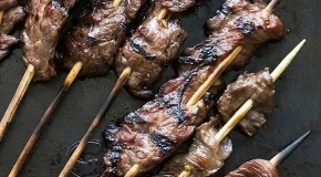 Grilled Skirt Steak Skewers Recipe