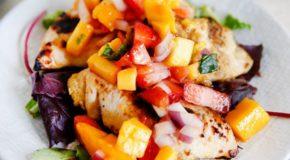 Grilled Mango Chicken with Strawberry Mango Salsa Recipe