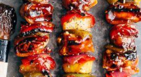 Hawaiian Chicken Bacon Pineapple Kebabs Recipe