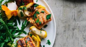 Hickory Smoked Salmon Skewers Recipe