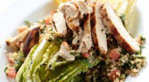 Grilled Chicken Caesar Tabbouleh Salad Recipe