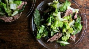 Grilled Steak and Romaine Salad with Coconut Dressing Recipe