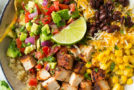 Grilled Chicken and Quinoa Burrito Bowls with Avocado Salsa Recipe