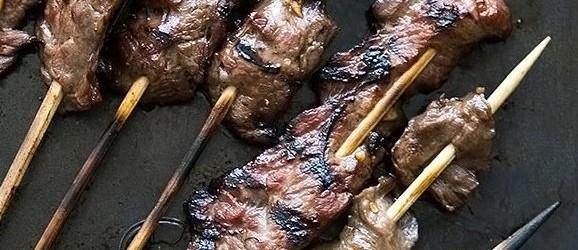 Grilled Skirt Steak Skewers Recipe