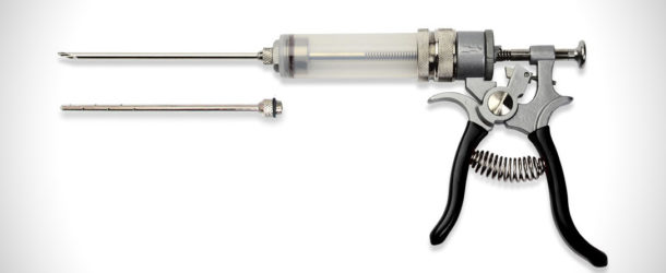 The SpitJack Magnum Meat Injector Gun