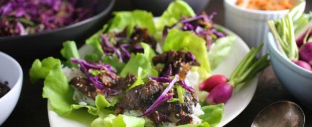 Bulgogi (Korean Grilled Beef) Lettuce Wraps Recipe