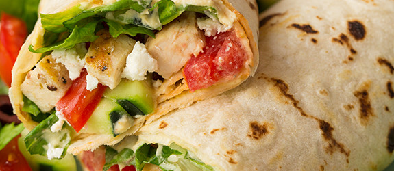 Greek Grilled Chicken & Hummus Wrap Recipe