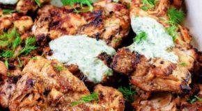 Mediterranean Grilled Chicken with Dill Greek Yogurt Sauce Recipe