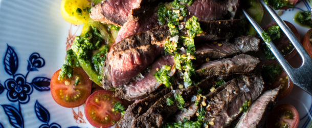 Grilled Skirt Steak with Chimichurri Recipe