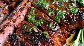 Perfect Grilled Steak with Herb Butter Recipe