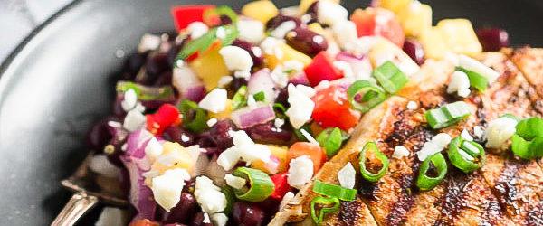 Cajun Grilled Chicken with Black Bean Mango Salad Recipe