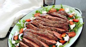 Grilled Steak Salad with Balsamic Cabernet Dressing Recipe