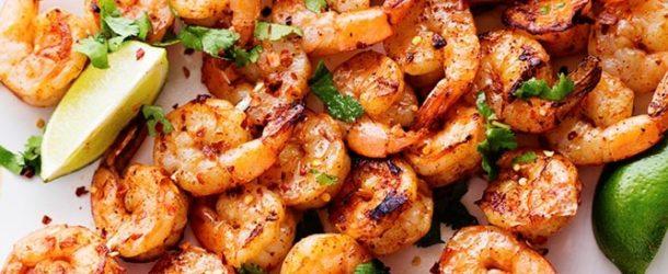 Grilled Spicy Shrimp with Creamy Avocado Sauce Recipe