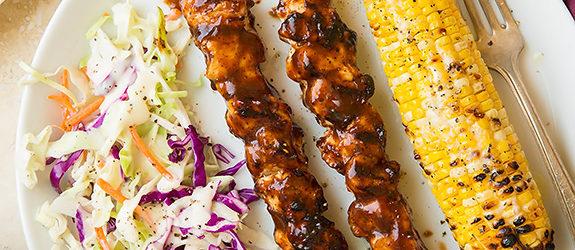 Honey Chipotle BBQ Chicken Skewers Recipe