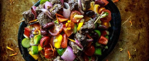 Grilled Greek Lamb Skewers Recipe