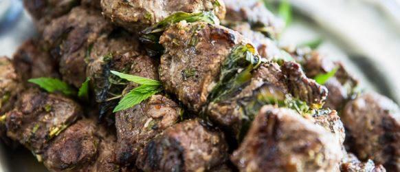 Grilled Lamb Kebabs with Tahini Sauce Recipe