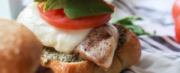 Grilled Avocado Caprese Chicken Sandwich Recipe