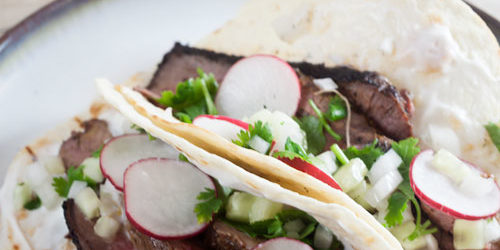 Grilled Lamb Tacos with Cucumber Salsa and Yogurt Recipe