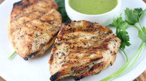 Grilled Chicken with Roasted Garlic Vinaigrette Recipe