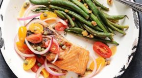 Grilled Salmon with Tomato-Red Onion Relish Recipe