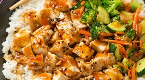 Teriyaki Grilled Chicken and Veggie Rice Bowls Recipe