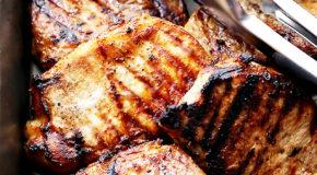 Honey Soy Grilled Pork Chops Recipe