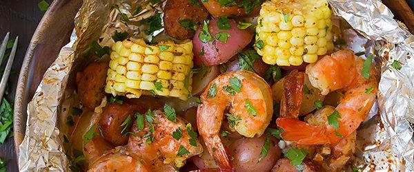 Grilled Shrimp Boil Packets Recipe