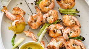 Grilled Shrimp With Sweet or Spicy Mustard Dipping Sauce Recipe