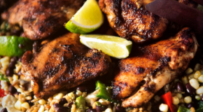 Grilled Chicken Thighs with Ancho Rub Recipe